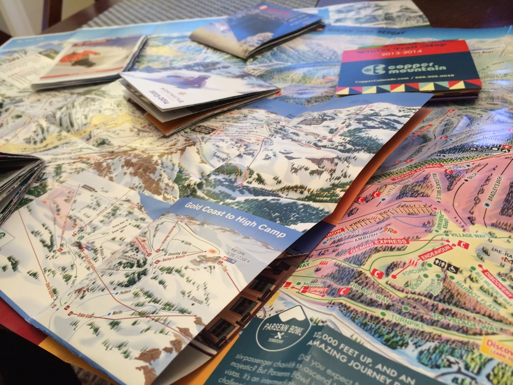 Tinkurlab's collection of trail maps from the 2013/2014 season...each one different